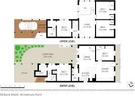 83 bank street mcmahons point 2060 nsw stone real estate gallery floorplan map
