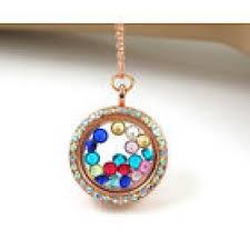 floating locket necklace chains images Rose gold living memory floating locket necklace with chain jpg