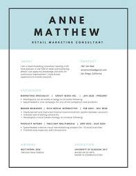 resume header blue header with black border minimalist resume templates by canva