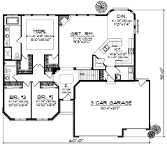 3 bedroom ranch house floor plans ranch style house plans 1896 square foot home 1 story 3