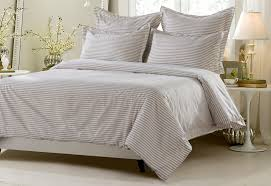 California King Duvet Cover 6pc Taupe White Striped Bedding Set Includes Comforter And Duvet