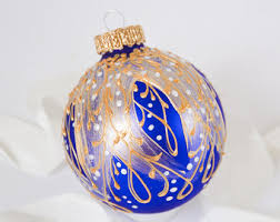 blue ornament etsy