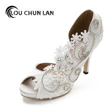 wedding shoes white aliexpress buy louchunlan women shoes pumps wedding shoes