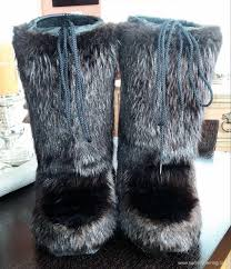 mens winter boots winter men boots beaver real fur size uk 3 4