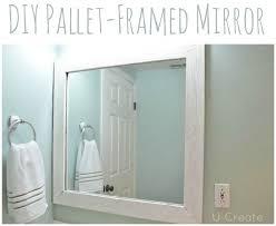 Diy Bathroom Mirror by Top 25 Best Pallet Mirror Ideas On Pinterest Pallet Mirror