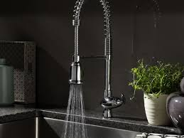 sink u0026 faucet industrial signature pull down kitchen faucets