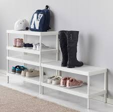 ikea shoe rack ikea storage solutions for minimalists on a budget remodelista