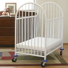 Baby Mini Crib Baby 24 X 38 White Deluxe Arched Mini Crib With 3 Mattress