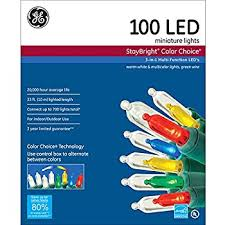 100 count mini lights amazon com ge staybright 100 count multi function color changing