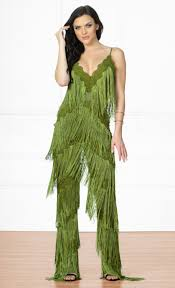 green jumpsuit selena fringe jumpsuit the fashion addicts