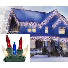blue white christmas lights pack of 600 red white blue commercial icicle christmas lights