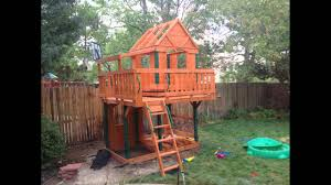 How To Build A Wooden Playset Woodridge Playset Construction Youtube