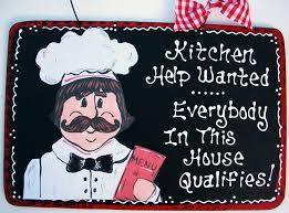 Kitchen Fat Chef Decor Kitchen Help Wanted Sign Kitchen Plaque Decor Fat Chef My Home