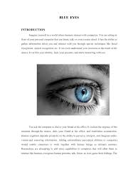 blue eyes self improvement emotions
