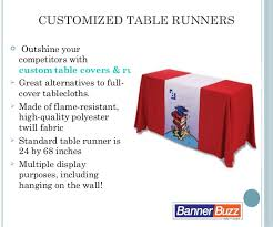Trade Show Table Runner Trade Show Display Custom Table Covers Bannerbuzz