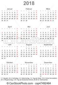 Calendario 2018 Feriados Portugal Vektorbild Einfache Feiertage Deutschland 2018 Kalender