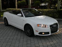 white audi a4 convertible for sale 2007 audi a4 2 0t convertible for sale in fort myers fl