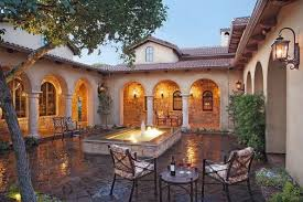 style homes with courtyards tuscan style home in atrium courtyard with