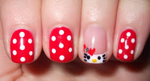red nail designs with rhinestones