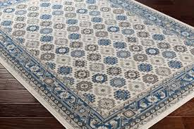 artistic weavers roosevelt roo 6219 brooks denim blue ivory rug