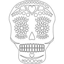 Day Of The Dead White Sugar Skull Free Day Of The Dead Digital Stamp Polyvore