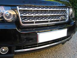 chrome range rover sport chrome front bumper trim splitter strip for range rover l322 vogue