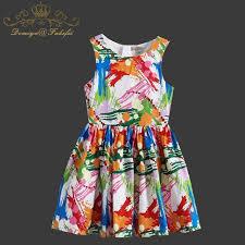 Baby Girls Dress Summer 2018 Brand Kids Clothes Toddler Robe Enfant