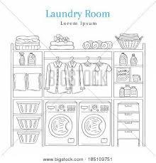 Laundry Room Hangers - laundry room interior washing vector u0026 photo bigstock