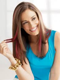 Color Hair Extension by Clip In Color Synthetic Hair Extensions By Put On Pieces