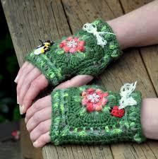 granny mittens sunny autumn craftorium