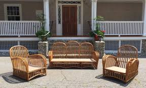 Saybrook Outdoor Furniture by Antique Heywood Wakefield Stick Wicker Set The Wicker Shop