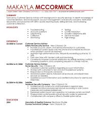 best emergency services customer service advisor resume example