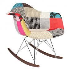 chaise rocking chair patchwork eames rar