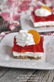 orange cranberry pretzel gelatin salad your homebased