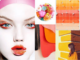 mood board be bold a color story abstract art print