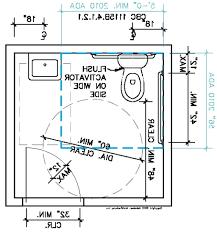 ada bathroom floor plan simple wheelchair drawing