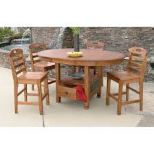 designs 1247ro sedona oval family butterfly table in rustic