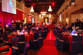 solutions with impact used red and blue decor to create london
