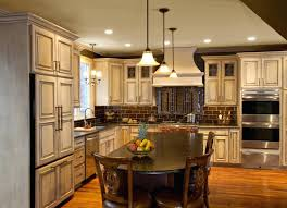 distressed painted kitchen cabinets painting kitchen cabinets cream color faced