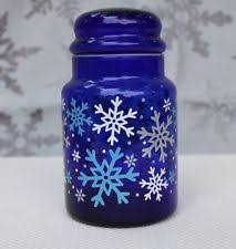 blue kitchen glass canisters ebay