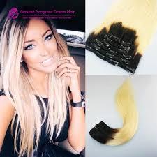 Bellami Ombre Hair Extensions aliexpress com buy full set 1b 613 blonde ombre 100 human hair