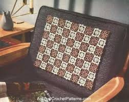 Crochet Armchair Covers Arm Rest Cover Patterns Free Knitting Patterns