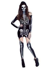 skeleton costume womens x rayed skeleton dress costume