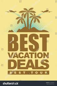 best deals banner island palm stock vector 136440245