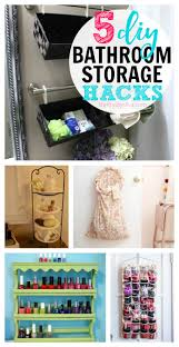 5 cheap diy bathroom storage ideas