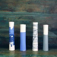 single stem vases pale blue grey single stem vase ceramics ali tomlin seed