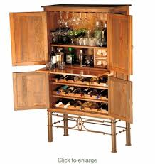 Rustic Bar Cabinet Copper Bar Cabinet With Iron Base