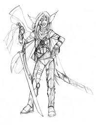 half elf pirate sketch by basilthebarbarian on deviantart