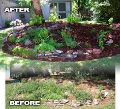 perennial rock garden before and after u2013 glacier view landscape