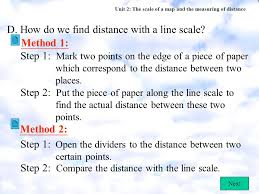 distance between two points map unit 2 the scale of a map and the measuring of distance a what